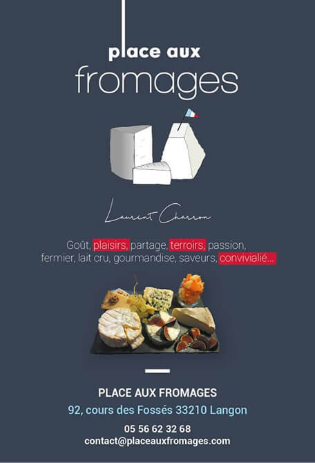 "La boutique fromagerie ""place aux fromages"" fromagerie langon gironde"